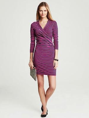 lila elbise, çizgili elbise, dar kesim elbise,