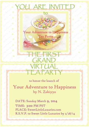 your adventure to happiness tea party, tea party, n. zakiyya
