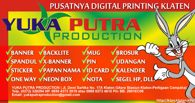 yuka putra production digital printing klaten
