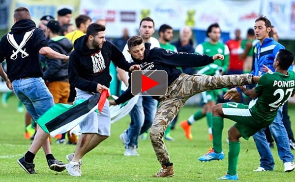 Supporter tendang pemain Israel