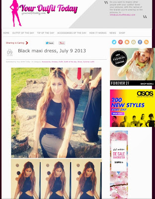 Featured on your outfit today fashion site