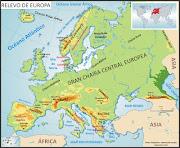 O Relevo na Europa (europa relevo)
