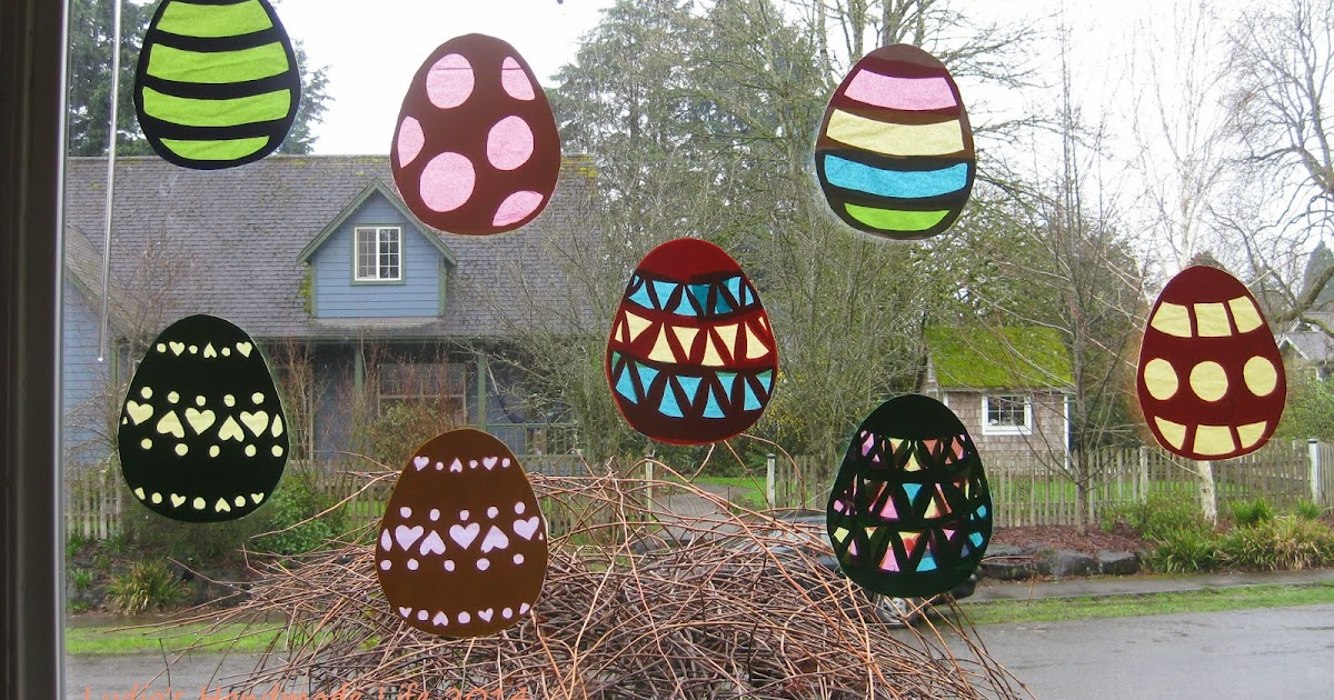 Handmade life easter egg window decorations - Window decorations for spring ...