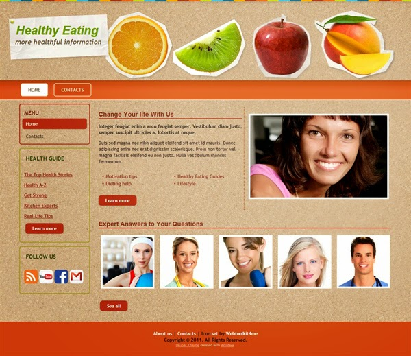 Healthy Eating - Free Drupal Theme