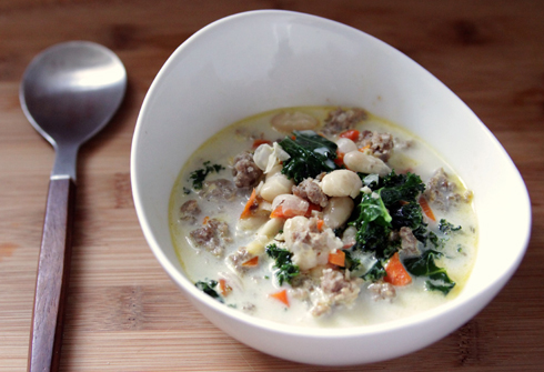 Food: White Bean Kale Soup - Made By Girl