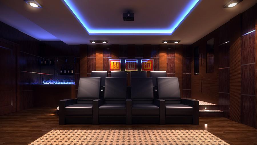 Lakhbir Singh Home Theater Room