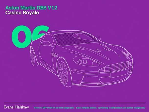 Carros James Bond - 007 - Aston Martin DBS V12 - Casino Royale