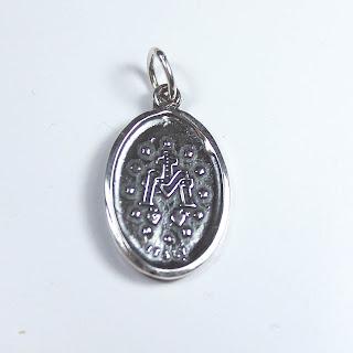 medalla virgen milagrosa plata