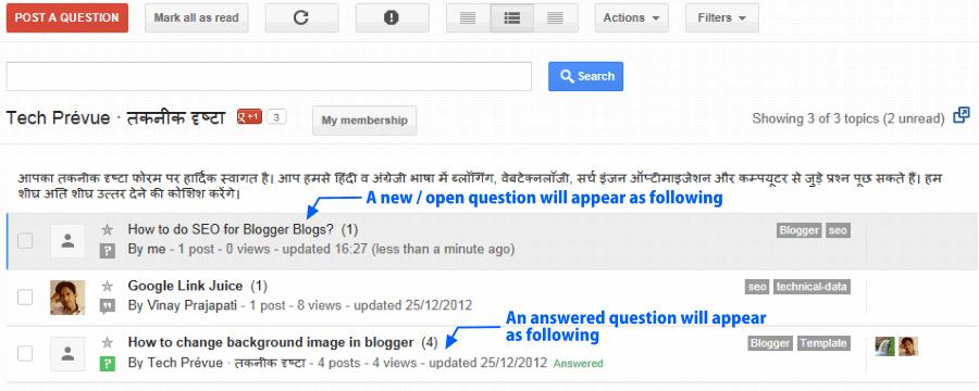 Tech Prevue Forum - Sample Asked Questions