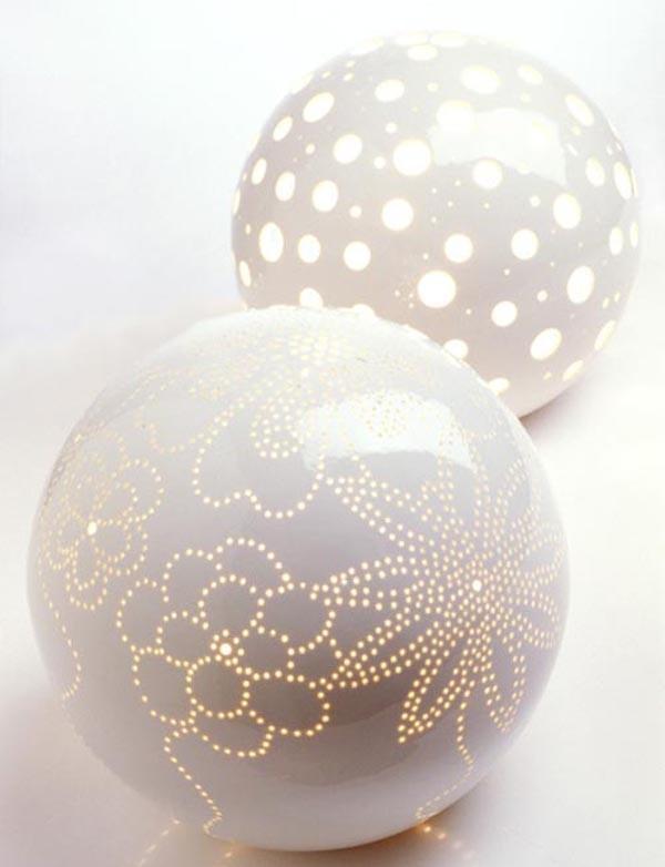 Design And Furniture Artistic Ceramic Ball Lamp Globe
