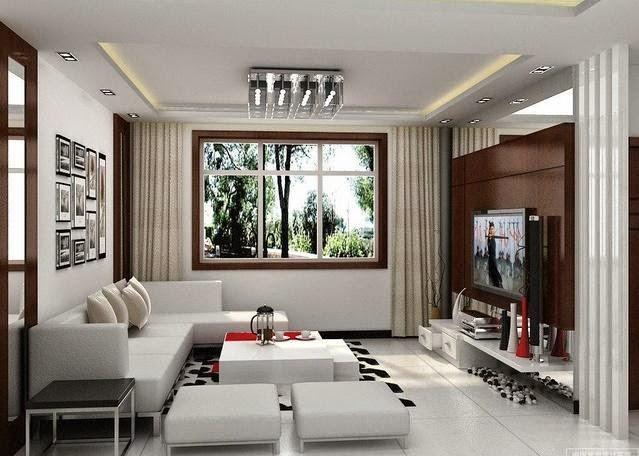 Ruang keluarga minimalis kecil 3