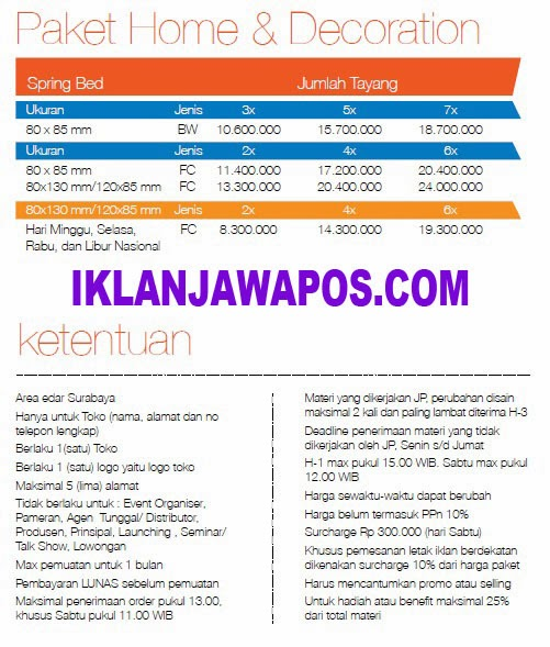 Jawa Pos Iklan Paket Home And Decoration 2014