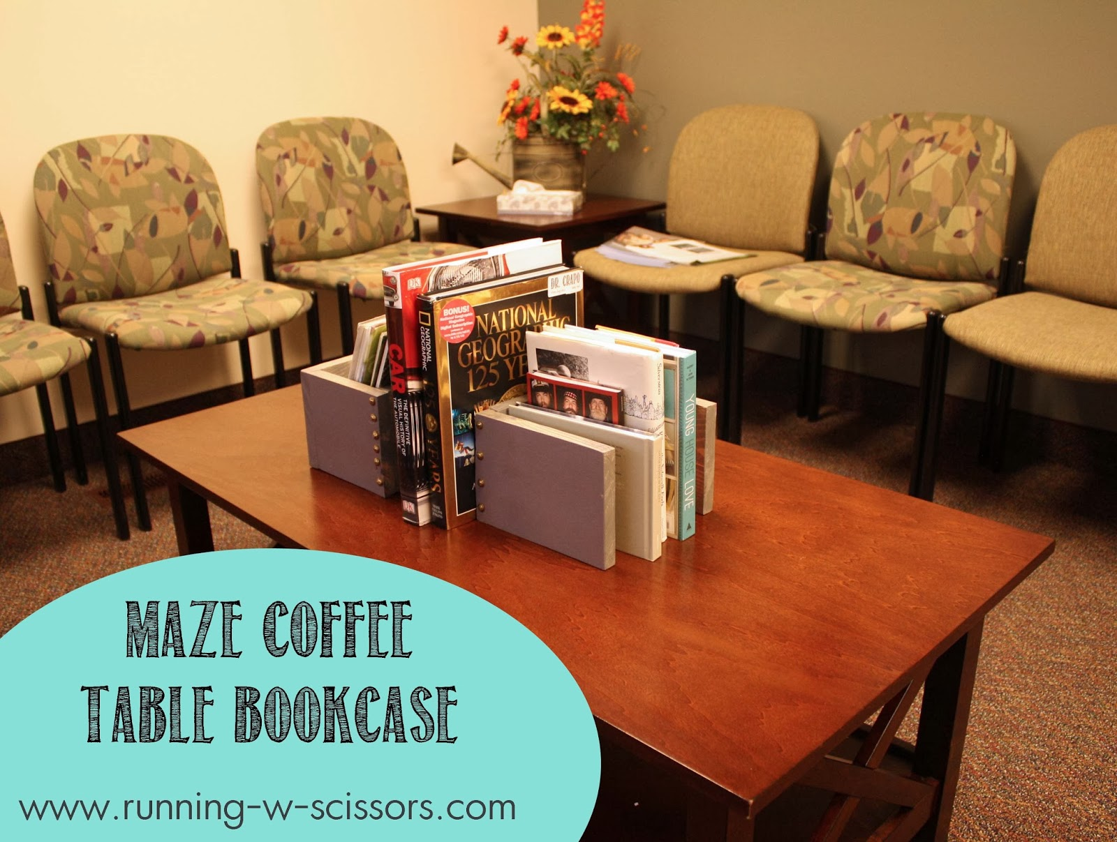 running with scissors: maze bookcase for a coffee table