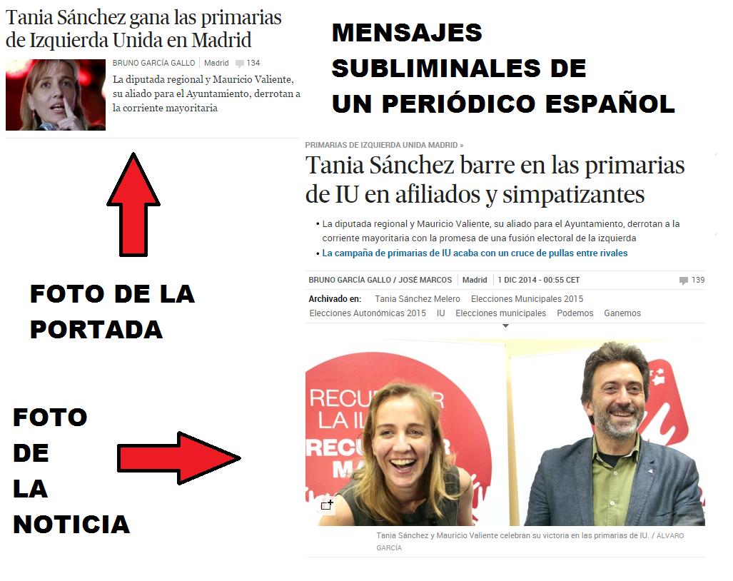 Imágenes subliminales Tania Sánchez