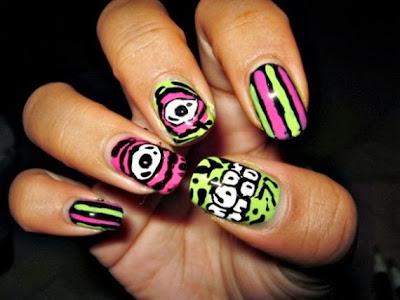 halloween nail art of 2013