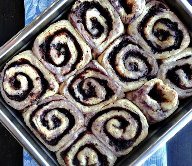 blueberry chocolate roll