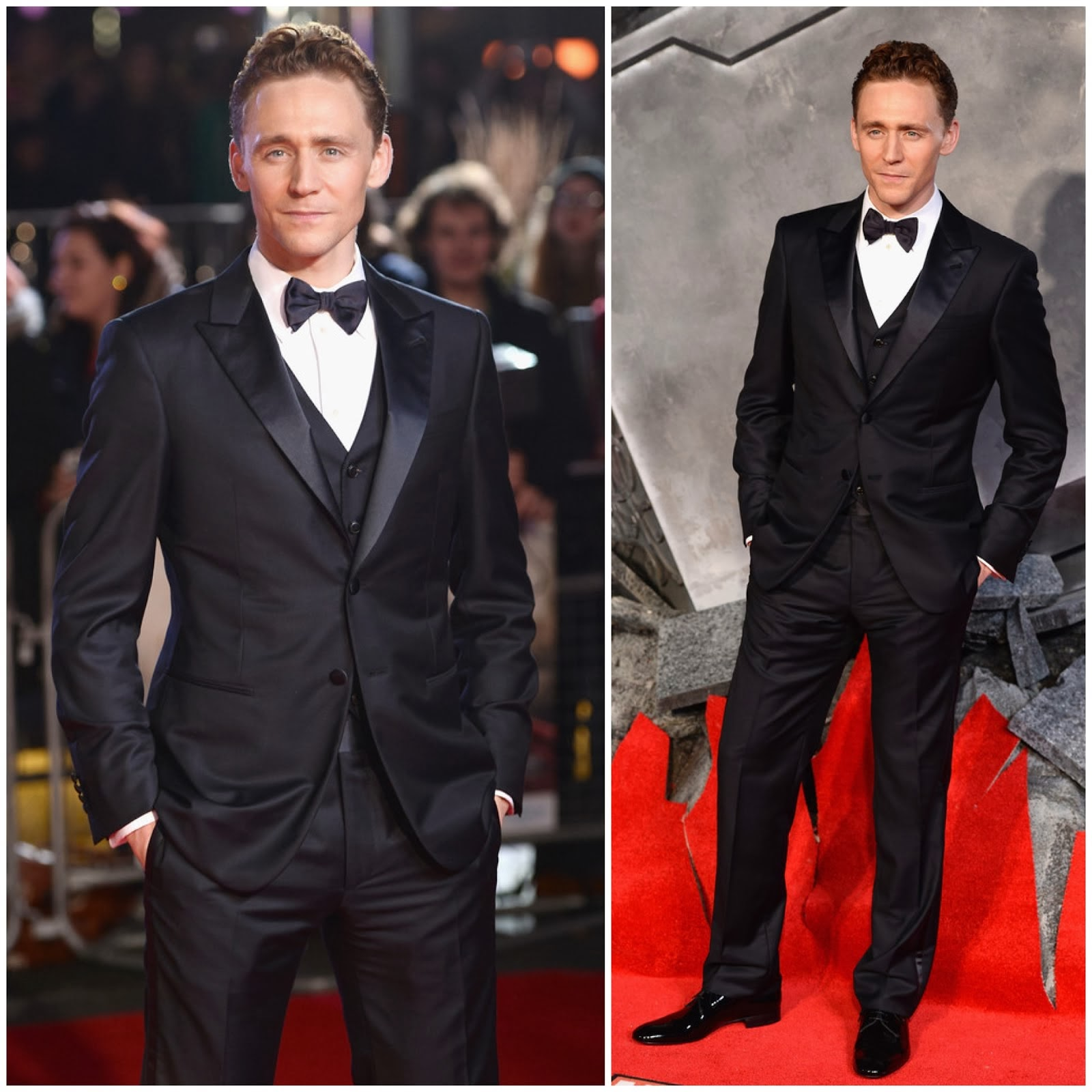00O00 Menswear Blog: Tom Hiddleston in Giorgio Armani - 'Thor: The Dark World' premiere, London