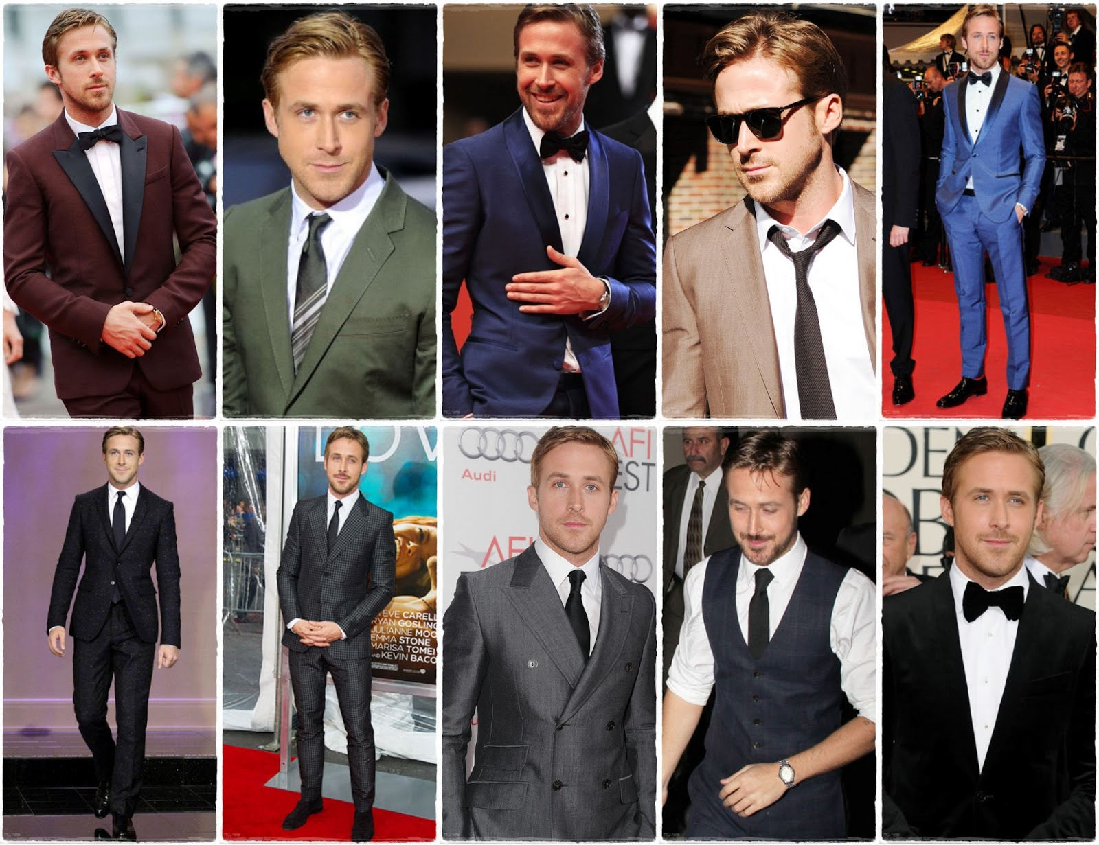 Suit up - Ryan Gosling. Ferragamo y Gucci