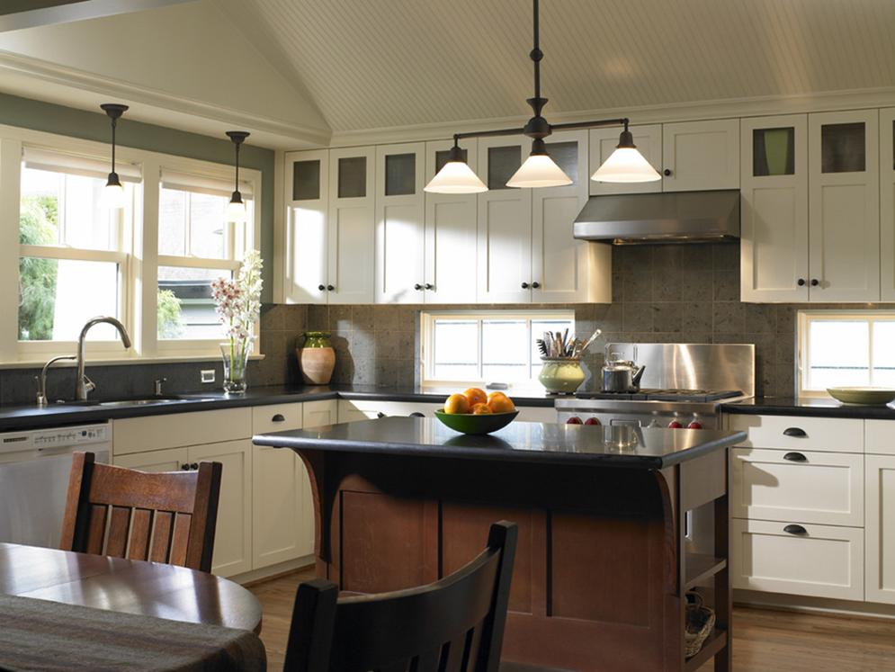 Delorme designs white craftsman style kitchens for Kitchen cabinet remodel