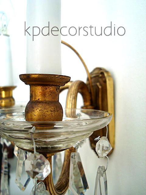 Aplique vintage de lágrimas-bronce-latón
