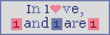 Free cross stitch pattern - bookmark