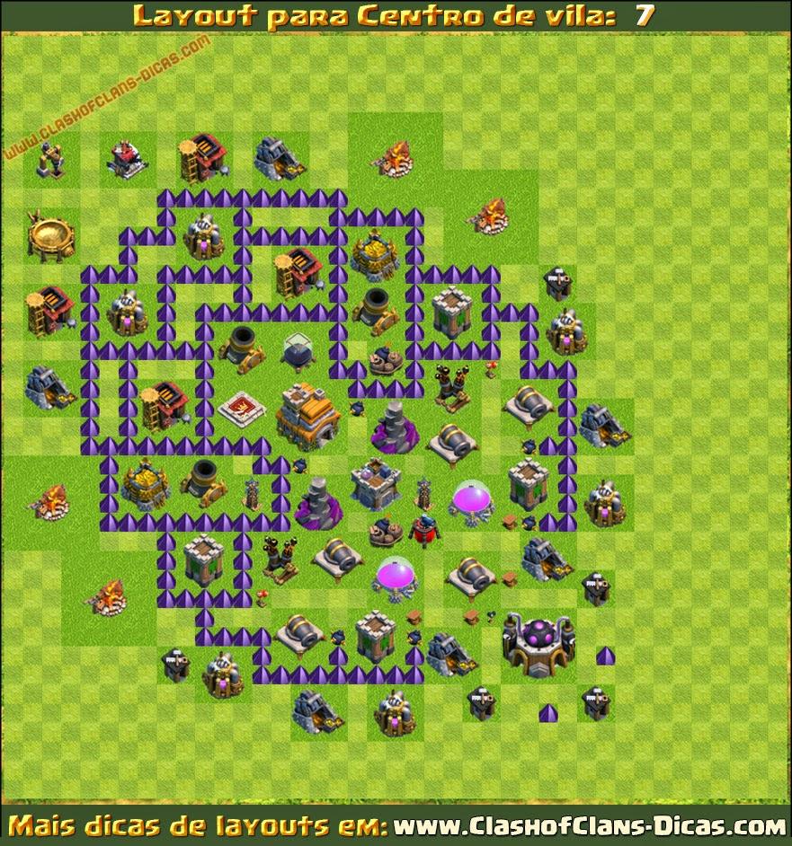 layouts cv 7 clan imbatíveis