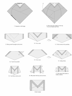 Gmail Origami Diagram