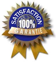 Satisfaction 100% garantie!