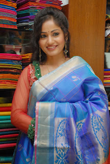 Actress Madhavi Latha Pictures in Salwar Kameez at Sreeja Fashions South Silk Festival 2013 Launch 0015.jpg