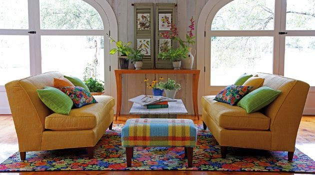 You Can Also Make A Floral Statement In Retro Modern Interiors With The Addition Of Bold Area Rug Really There Is No Style That Wouldnt Benefit