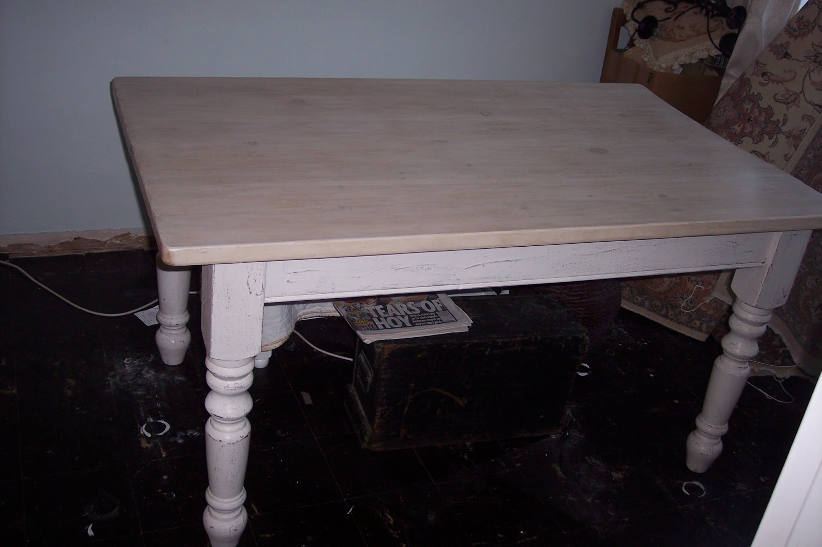 Paint and style rustic farmhouse table legs paint and style keyboard keysfo Choice Image