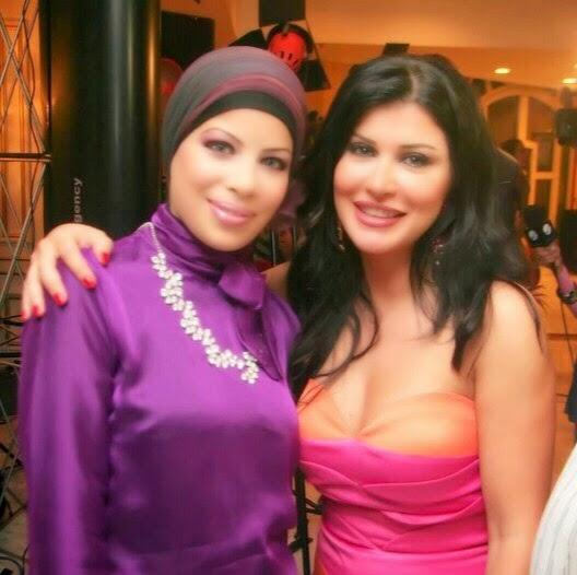 مع الفنانة جومانا مراد عام 2009