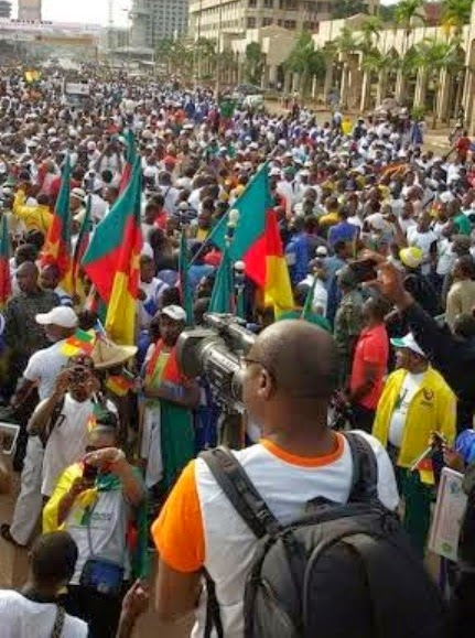 Thousands March In Cameroon To Show Support For Troops