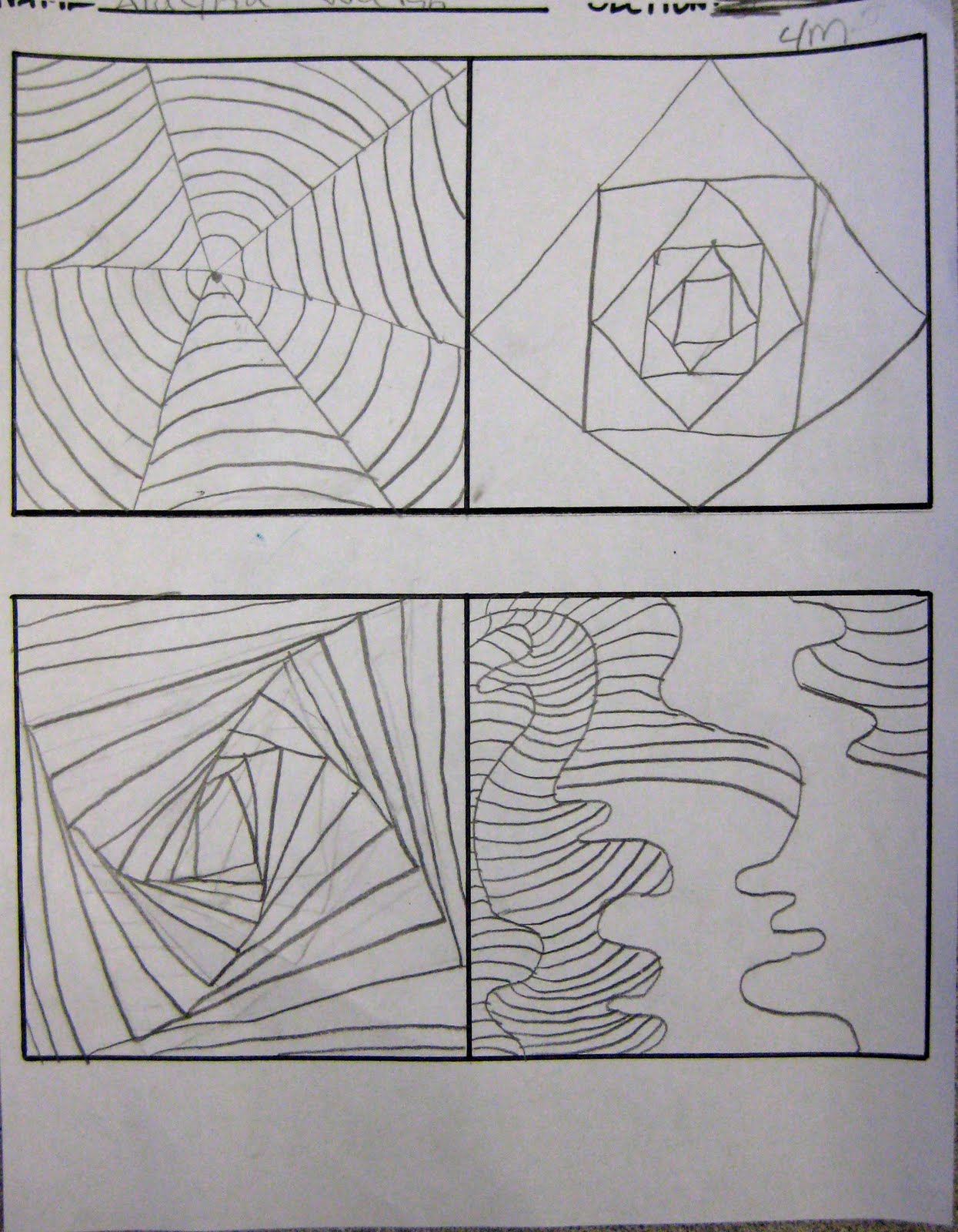 Optical Art Cube – Op Art Worksheet
