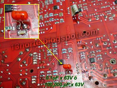 Reemplazo de capacitor SMD