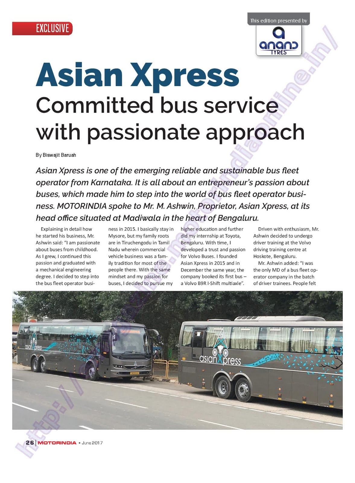 MOTOR INDIA ARTICLE 12 : ASIAN XPRESS