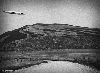 UFO Sighted Between Beartooth & Pryor Mtn Ranges, Montana - 1957