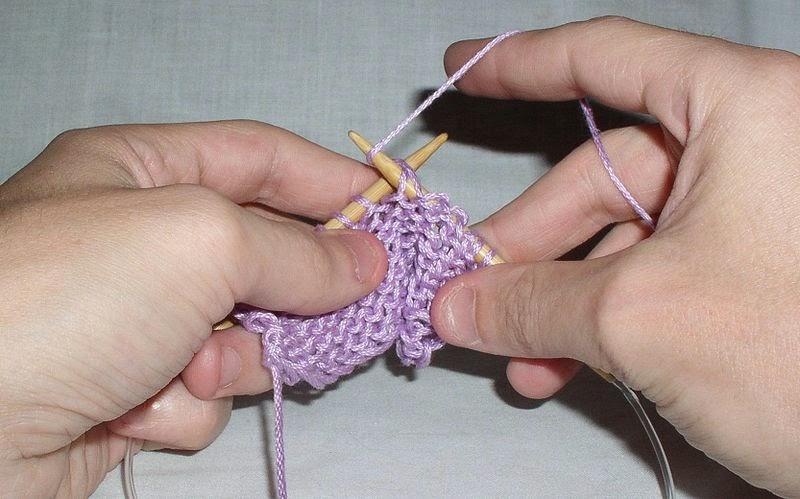 Il gettato nel lavoro a maglia