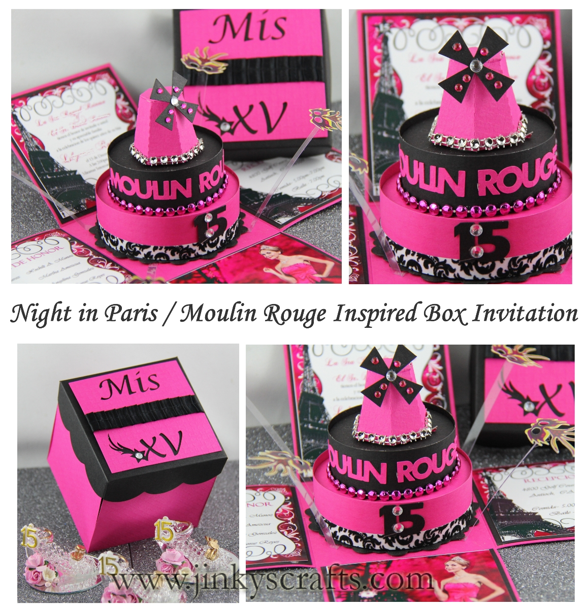 Jinkys Crafts Designs Night in Paris Moulin Rouge Theme