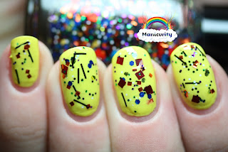 Manicurity: Rainbow Favorites - Yellow - Orly Spark + Nostalgic Gluttony