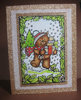 Morgans ArtWorld Xmas Teddy