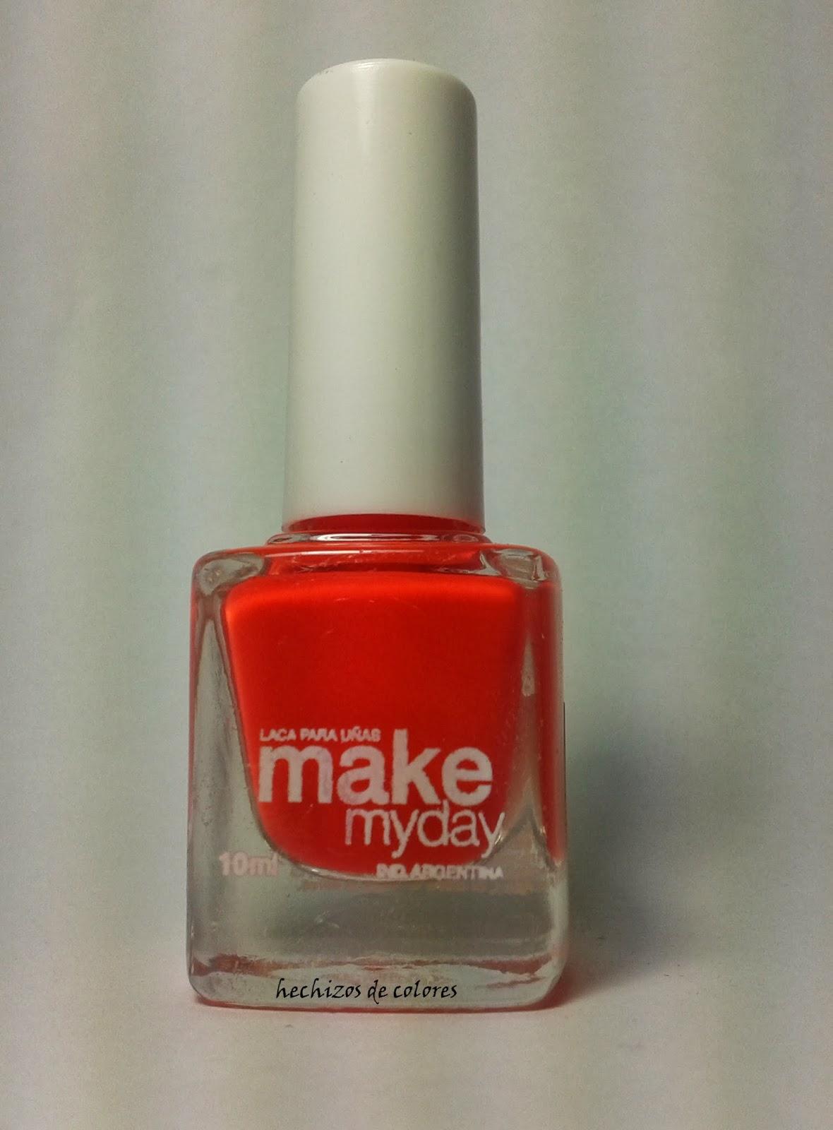 Único De Color Naranja Brillante De Color Rojo Esmalte De Uñas Ideas ...
