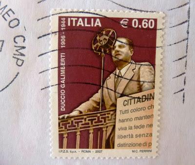 Duccio Galimberti partigiano francobollo