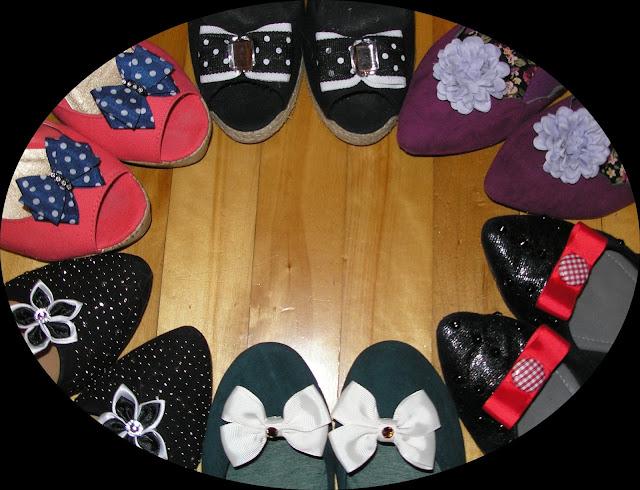 Clips amovibles, pour coordonner vos chaussures au goût du jour