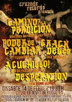 CAMINO A LA PERDICIÓN + PODER DE CAMBIAR +CRACK DEL 29 + A CUCHILLO! + DESPERATION @ Roquetes (BCN)