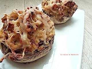 champignons de Paris farcis