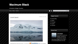 Maximum Black Blogger Template