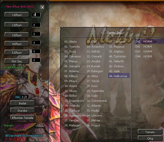 Metin2 Efsun Oyun Hile botu 5 li 2012 indir – Download