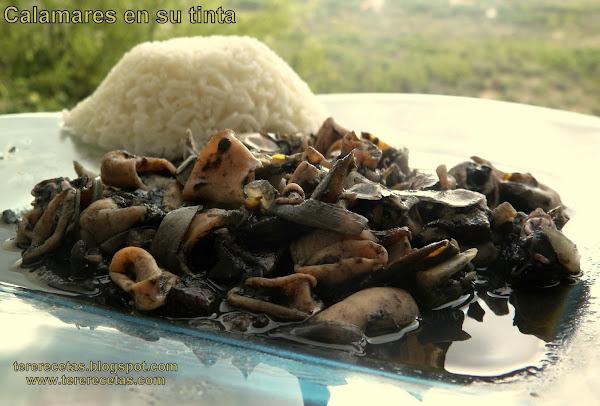 Calamares en su tinta cocinar en casa es for Cocinar 7 mares