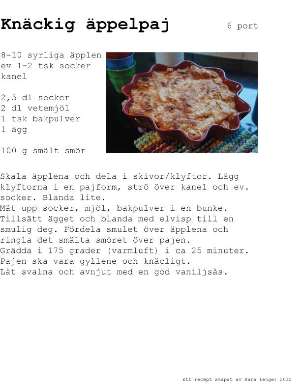 höstens godaste äppelpaj med vaniljsås recept